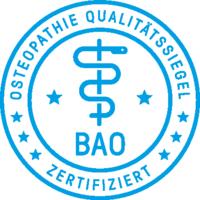 Osteopathie Qualitätssiegel der Bundes Arbeitsgemeinschaft Osteopathie e.V.